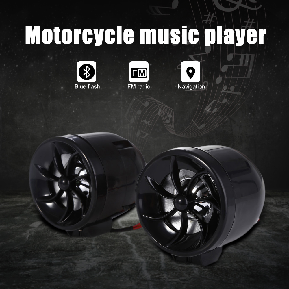 Audio Speaker Sound Motorcycle Water-Resistant Music-Player MP3 MT483 AOVEISE Alarm Anti-Dust/theft-Navigation-Design
