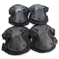 New Tactical Paintball Protection Knee Pads Elbow Pads 4pcs/set SWAT X style Protection Adjustable Military Knee Elbow Pads