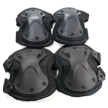 New Tactical Paintball Protection Knee Pads Elbow Pads 4pcs/set SWAT X-style Protection Adjustable Military Knee Elbow Pads