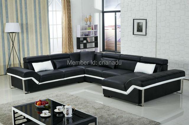 100 Genuine Leather Sofa Living Room Sofas Furniture
