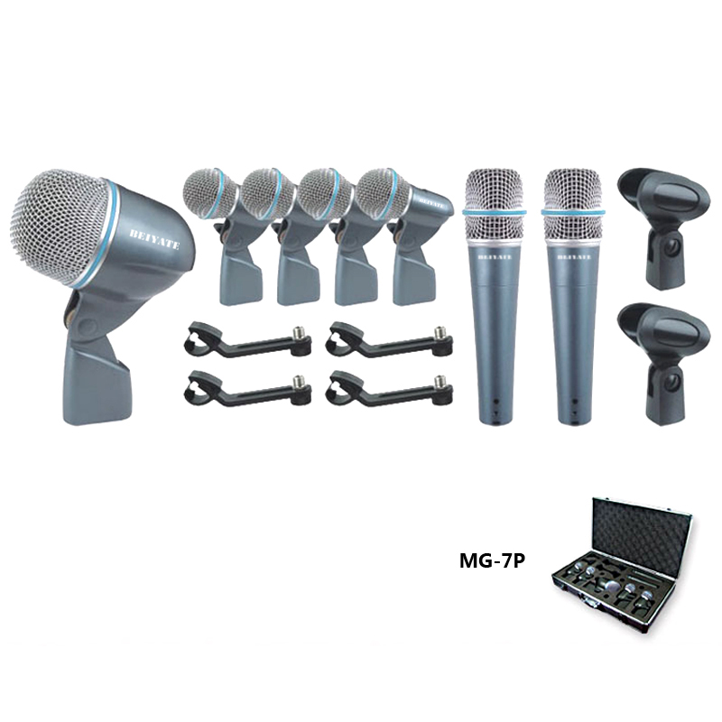 mg 7p wired microphone beta 7 kit drum mic jazz drum set bass tom tom crash cymbal ride cymbal. Black Bedroom Furniture Sets. Home Design Ideas