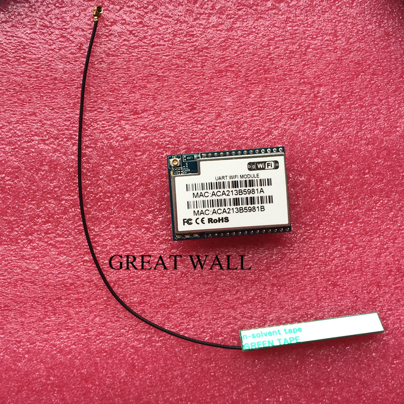 10pcs serial uart dual Ethernet wifi module hlk rm04 with two serial port HLK RM04