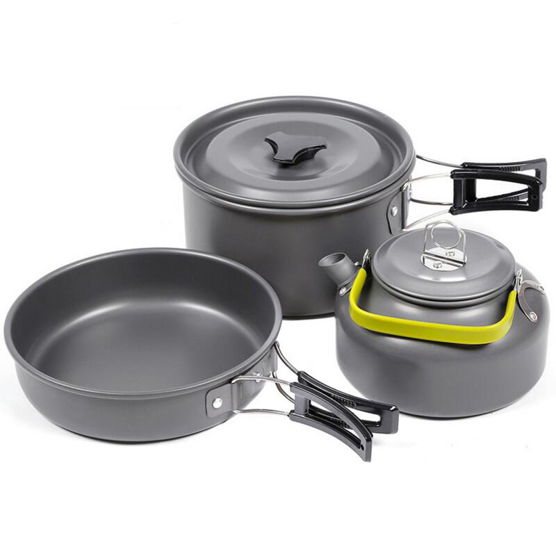 Sports & Entertainment Outdoor Camping Cookware Set Portable Tableware Cooking For Camping Travel Cutlery Utensils Pot Pan Hiking Picnic Tools