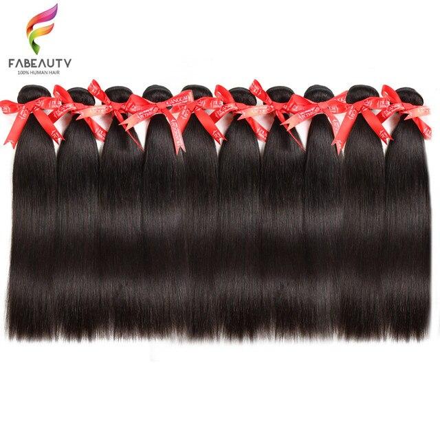 Brazilian Hair Weave Bundles Straight Human Hair 40 Inch Bundles