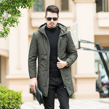 2017 NEW Winter new parkas for jacket Hooded brand casual men warm plus size 8XL 7XL Cotton-padded clothes Coat Free shipping