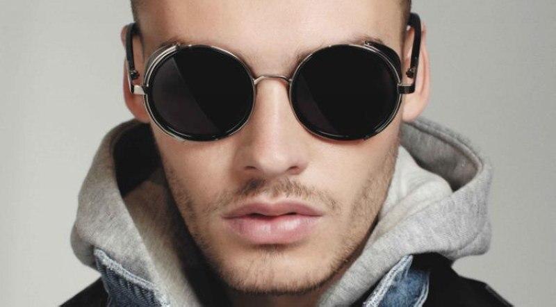 5908aad1bb8 Gafas de sol unisex vintage brand designer round sunglasses jpg 800x442 Round  sunglasses men