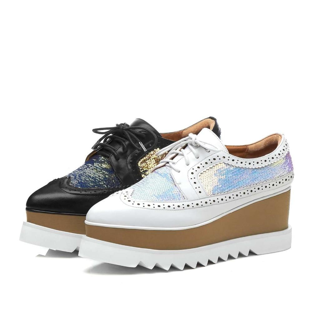 Весна и осень новые продукты Мужская обувь в Корейском стиле с круглым носком Для Мужчин's Повседневное Оксфорд Обувь кожа золотистой вышив... - 6