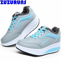 women winter casual shoes swing platform breathable plush ladies trainers shoes women increasing casual shoes zapatos mujer 206k стоимость
