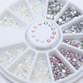 1 Box Colorful Resin Rhinestones 3D Nail Art Decorations Jelly Studs Manicure Tips Decoration in Wheel