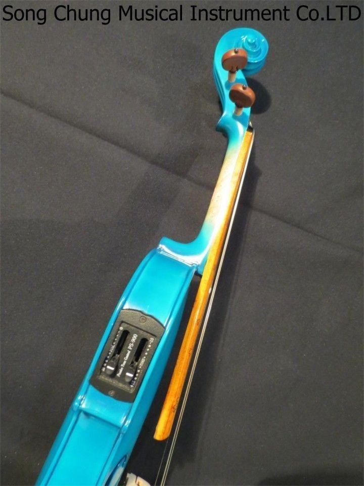 Nouveau À La Main Bleu Couleur Unique Modèle 4 cordes 4/4 violon Électrique + Acoustique violon