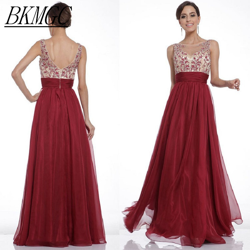 Women Elegant Embroidery Chiffon Maxi Party Dress Backless Distinguished Patchwork Floor Length Pleated Dress Sexy Women