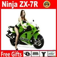 ABS plastic Fairings for bodywork 1996 2003 Kawasaki Ninja ZX7R 96 03 OEM light green fairing kits 7 gift VK98