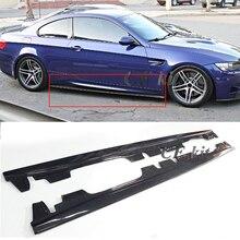 CF Комплект е стиль настоящая отделка кузова из углеродного волокна Боковая юбка бампер расширение губы для BMW 3 серии E92 E93 M3 2008-2013 автомобильный Стайлинг
