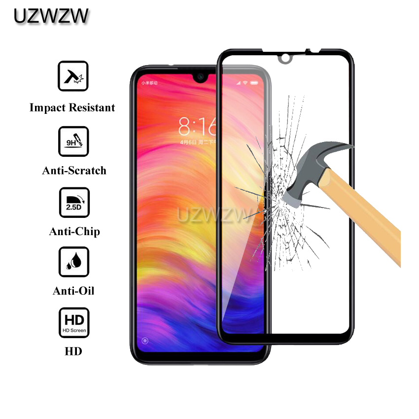 2pcs Full Cover Tempered Glass For Xiaomi Redmi Note 7 / Redmi Note 7 Pro Screen Protector Protective Glass
