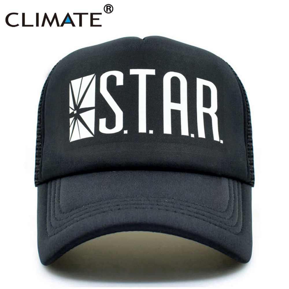 CLIMATE New Men Women Trucker   Caps   STAR Laboratories Summer Cool Mesh   Baseball     Caps   Cool Summer Net Trucker   Caps   Hat For Men