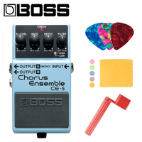 Boss CE 5 Stereo Chorus Ensemble Guitar Pedal Bundle with Picks, Polishing Cloth and Strings Winder