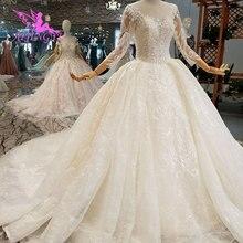 AIJINGYU düğün elbisesi es Stilleri Saten Törenlerinde Kabarık Dantel Pekin Vietnam Elbisesi Japonya düğün elbisesi Çiçek