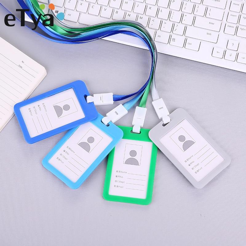 ETya Men Women Bank Credit Card Holder Wallet Bus ID Name Work Card Holder For Student Card Cover Business Card Case Badge Bag