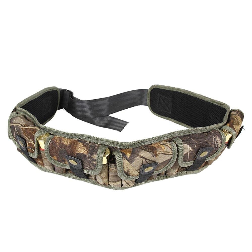 Caza Shotshell recargar soporte Molle cintura bolsa 12/20 cartucho calibre 30 balas munición cinturón Bandolier con siete bolsillos