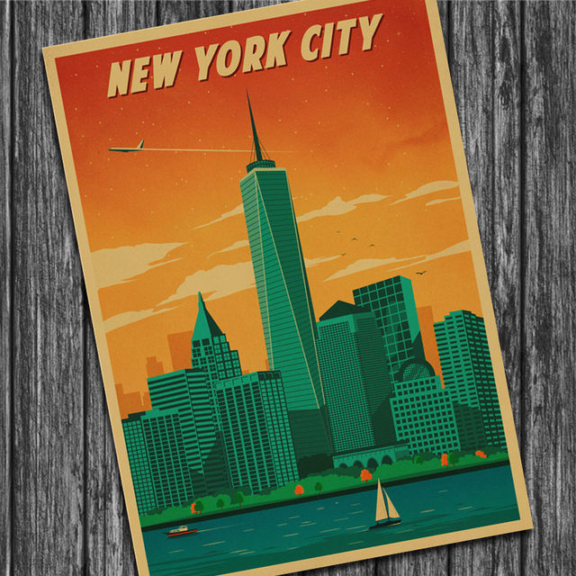 Canada Vancouver Vintage Retro Poster Kraft Paper Wall Sticker Art ...