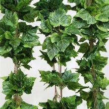 Luyue 10 шт Искусственные Шелковые виноградные листья висячая