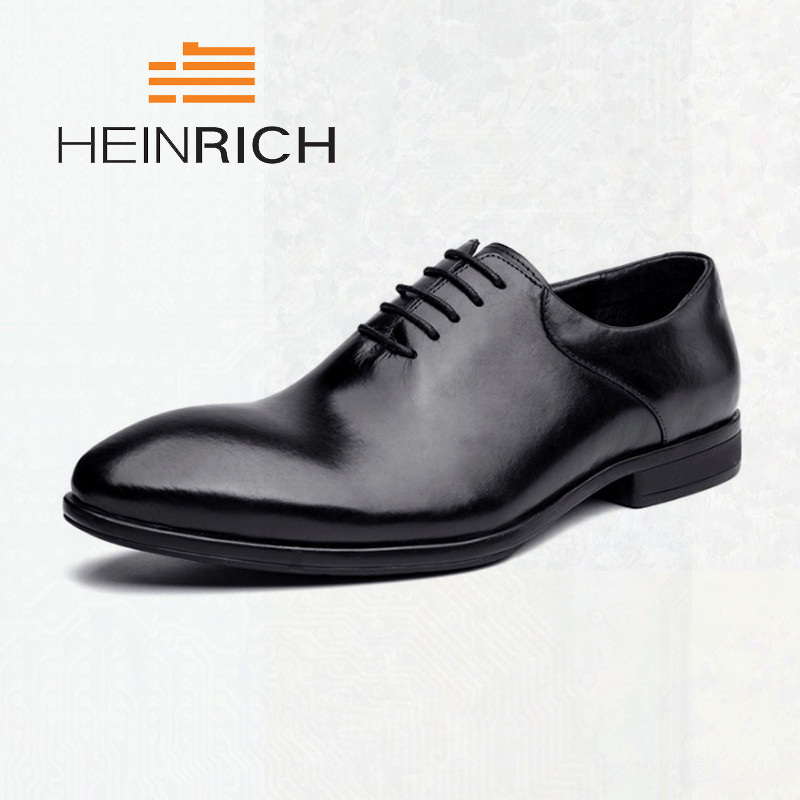 HEINRICH Formal Shoes Man Pointed Toe Winter Business Shoes Fashion Dress Minimalist Design Lace Up Male Shoes Sepatu PriaHEINRICH Formal Shoes Man Pointed Toe Winter Business Shoes Fashion Dress Minimalist Design Lace Up Male Shoes Sepatu Pria