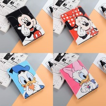 Cartoon Cute Mickey Minnie Mouse Donald Daisy Duck Protective For Apple iPad 2 3 4 Case Stand Leather Shell Full Cover