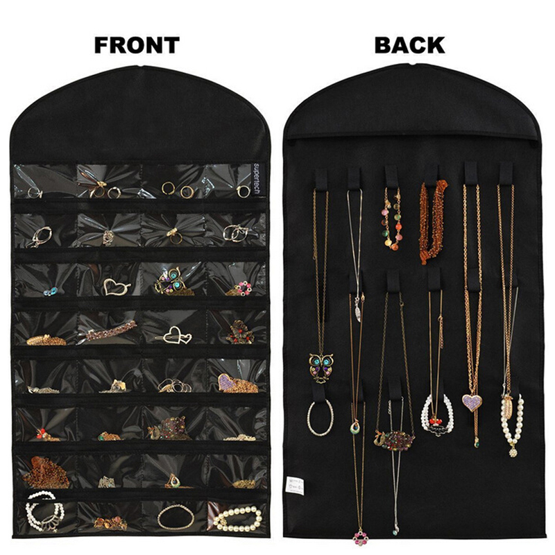 Hanging Double Sided Jewelry Display Holder Storage Bracelet Earring