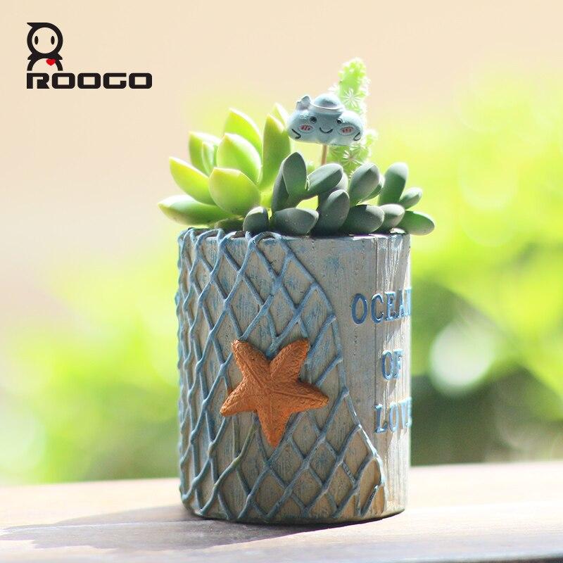 Roogo мини круглая сетка для морских ракушек цветочный горшок