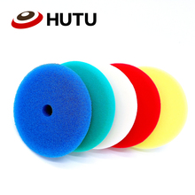 6Inch Flat Buffing Pads Europe Sponge Different Hardness Polish Pad For Dual Action polisher High Quality 30mm thick