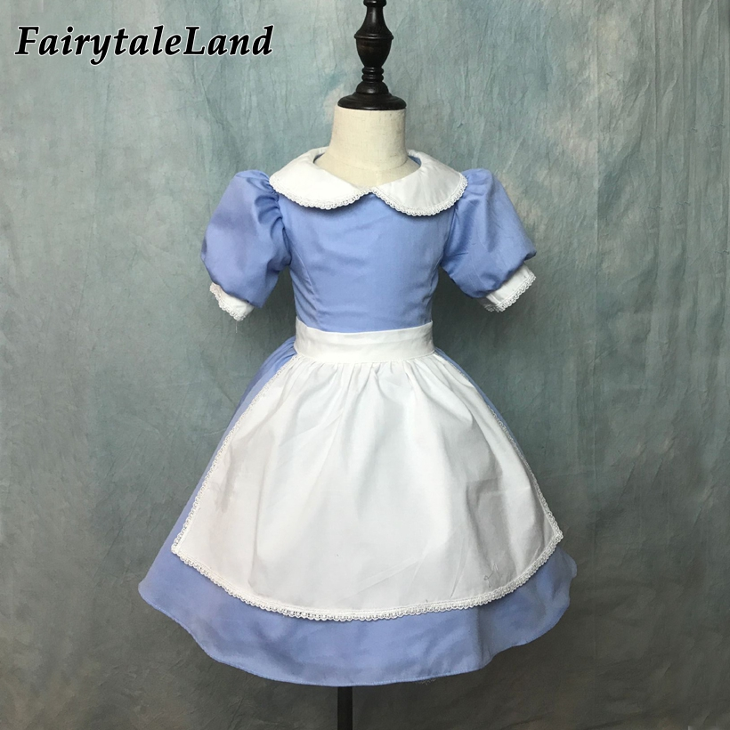 Alice's adventures in wonderland Alice cosplay costume Halloween costumes for kids girls Alice Blue dress Fancy costume girls superhero halloween costume for girls cosplay performance dance show fancy costumes girls clothing children suit dress for girl