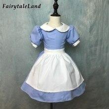 6e0dfac7e Las aventuras de Alicia en el país de las Maravillas Alice Cosplay traje  Halloween trajes para niños niñas Alicia vestido azul f.