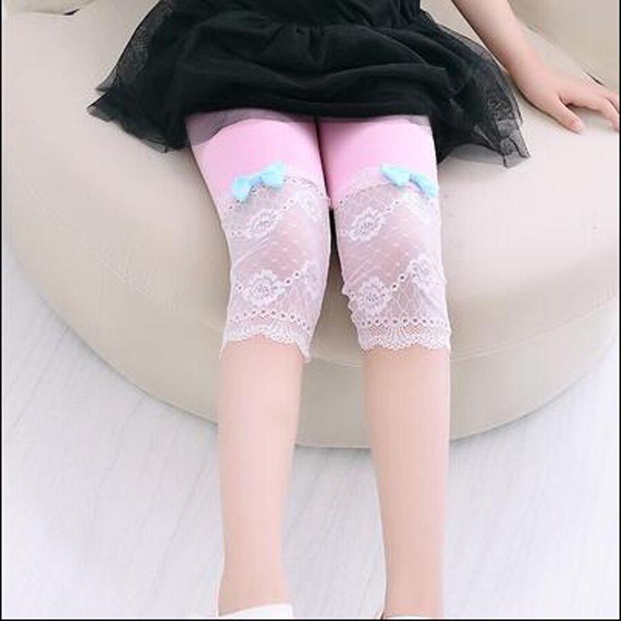 uşaqlar yay şalvar qızlar modal + krujeva dana uzunluğu leggings - Uşaq geyimləri - Fotoqrafiya 3