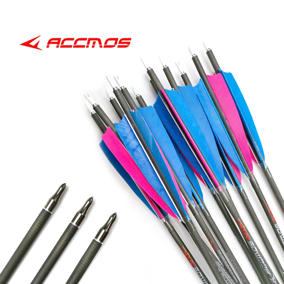 6//12x 31inch Archery Aluminum Hunting Arrows for Compound Recurve Bow Spine 550