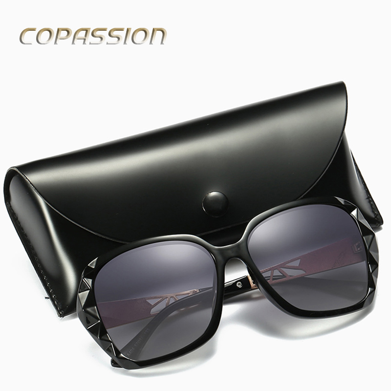 2017 Luxury Brand Design Polarized Sunglasses Women Ladies Elegant Big Sun Glasses Female Prismatic Eyewear Oculos De Sol Shades