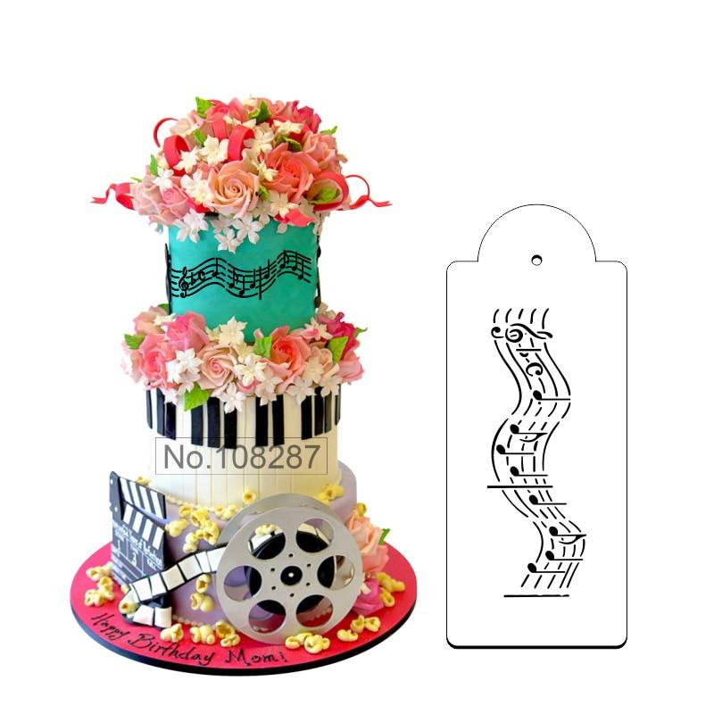 √Notas musicales frontera pastel plantilla para bodas postre ...