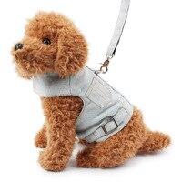 Pet Dog Harness Vest Dog Leash Pet Supplies Jeans Durable Dog Accessories