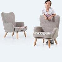 Новый милый мультфильм дети с подлокотником диван 100% чистый хлопок ткань диван детская мебель деревянная нога дети диван детская мебель