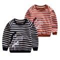 Wholesale Children Clothing Spring Boys Girls Long Sleeve Hoodies Sweatshirts Kids Cotton Striped Dinosaur Sweatshirt Pullovers