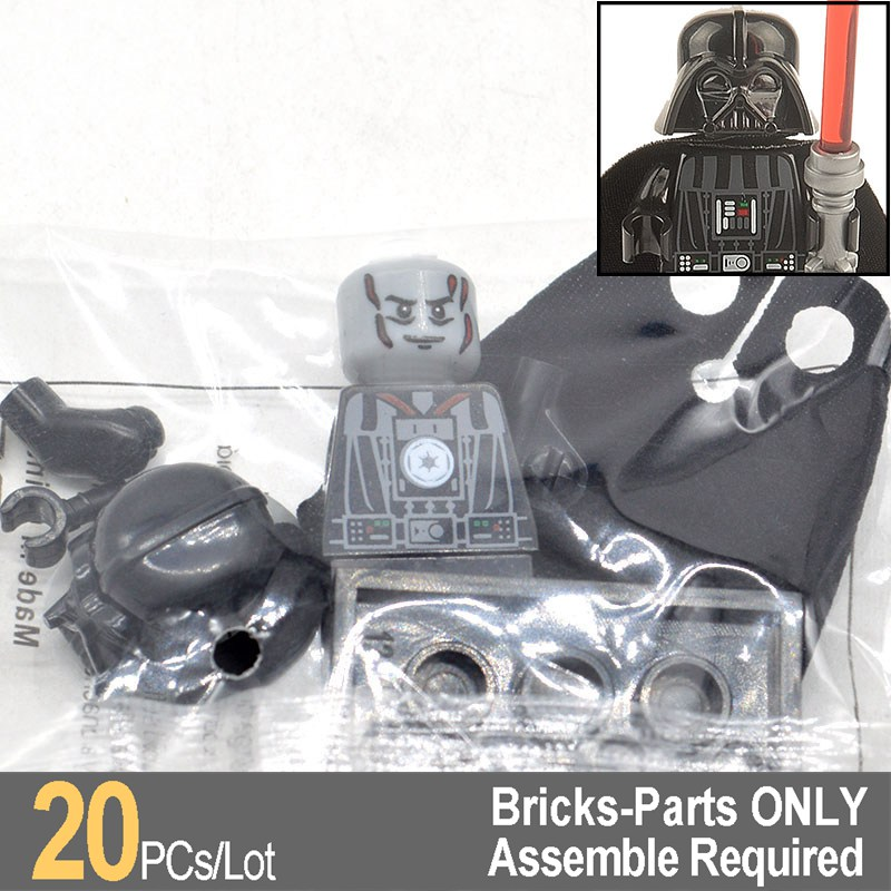 Wholesale 20pcs/lot Darth Vader with Red Lightsaber Star Wars Super Heroes Building Blocks Bricks Gifts Toys XH102