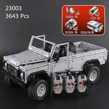 В наличии H & HXY 23003 3643 шт. техника серии MOC пульт дистанционного управления дикие внедорожные Автомобили Модель LePin строительные блоки кирпичи игрушки