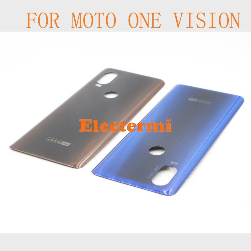 60PCS MOTO ONE VISION / XT1970-1  MOTO XT 1970 Battery Cover Tapa Back Housing Rear Door Case For Free Shipping