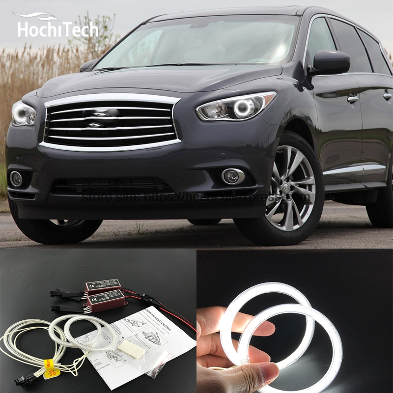 HochiTech ccfl angel eyes kit white 6000k ccfl halo rings headlight for nissan Infiniti JX35 2011 2012 2013 for uaz patriot ccfl angel eyes rings kit non projector halo rings car eyes free shipping