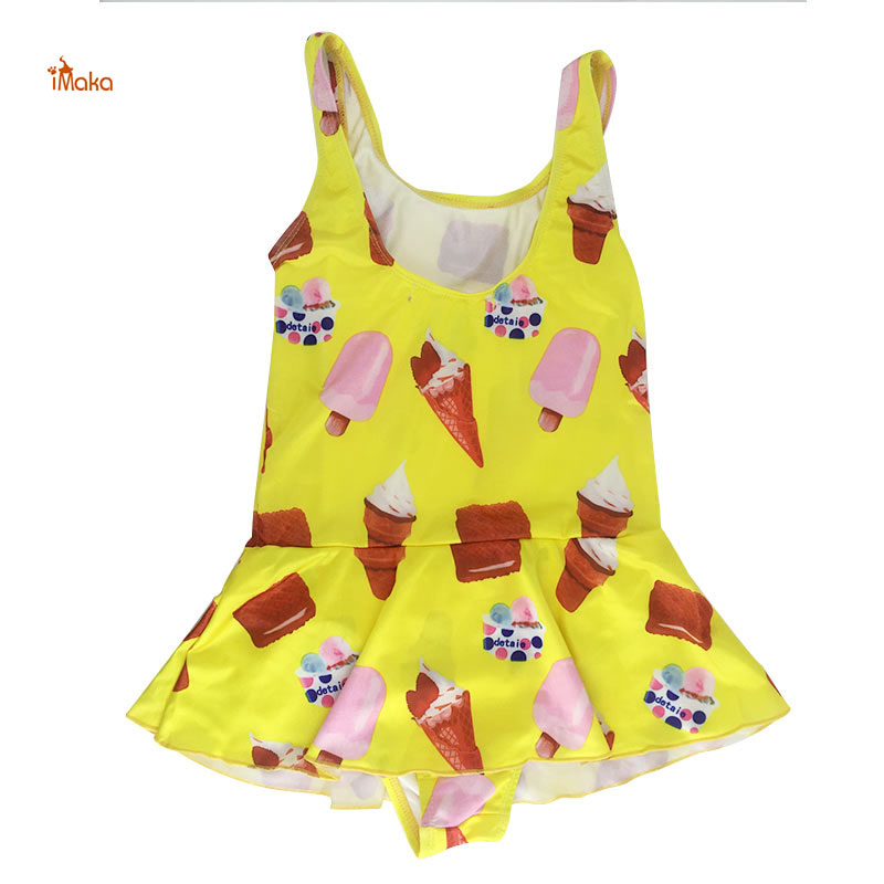 IMAKA 2017 Cute Kids Cartoon One piece Swimwear  Swimsuit Children Bathing Suits Toddler Clothing Swimming Suit for Girls