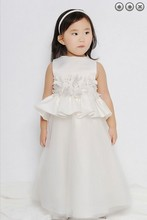 free shipping red flower girl dresses for weddings 2013 m first communion dress pageant girls glitz white