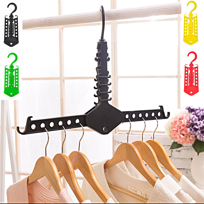 1pc New Delicate Clothes Hanger Folding Rack Magical High Quality Convenient Save Space Vintage Accessories