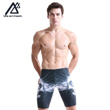 Summer Training Swimsuits Men Professional Swim Jammers Swimwear Competition Men Swimming Trunks Fast Skin Swimming Jammers