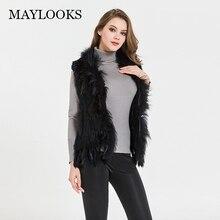 2018 Solid Real Fur Coat New Rabbit Fur Arrival Women s Natural Real Vest Coat jacket