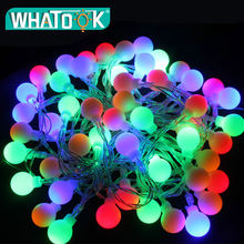Гирлянда с круглыми лампочками лампа гирлянда шарами уличное