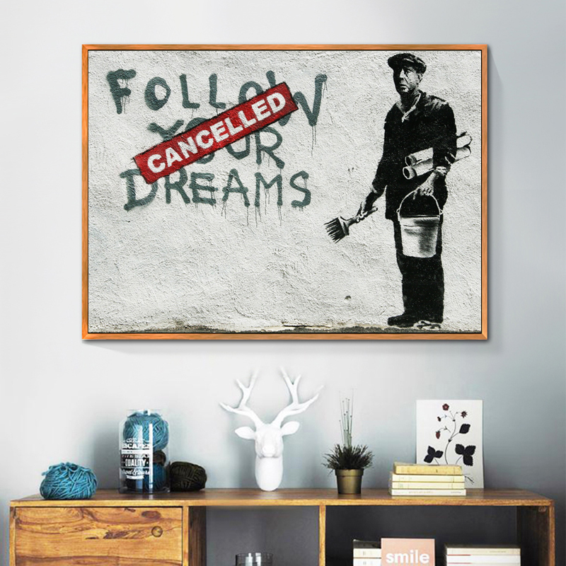 zeroc banksy canvas print poster wall art picture for living room decoration graffiti home